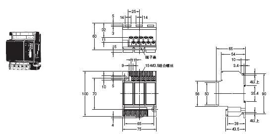 61F-G□N 外形尺寸 5 61F-G1N_Dim