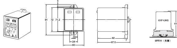 61F-UHS / HSL 外形尺寸 1