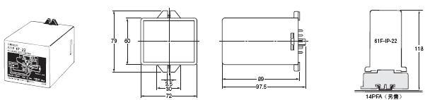 61F-IP-22 外形尺寸 2