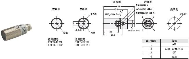 E3FA / E3RA / E3FB 外形尺寸 8