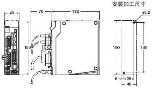 R88L-EC, R88D-KN□-ECT-L 外形尺寸 3