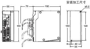 R88L-EC, R88D-KN□-ECT-L 外形尺寸 4