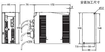 R88L-EC, R88D-KN□-ECT-L 外形尺寸 5