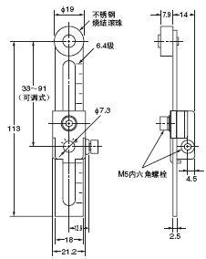 D4A-□N 外形尺寸 63 D4A-C00_Dim
