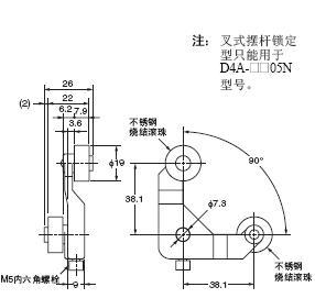 D4A-□N 外形尺寸 74 D4A-E00_Dim