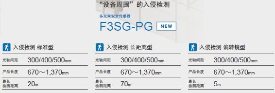F3SG-SR/PG 系列 特点 5