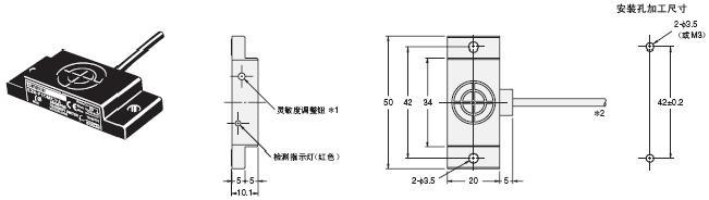E2K-F 外形尺寸 3 E2K-F_Dim