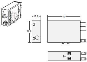 K7L-AT50 / AT50D 外形尺寸 2