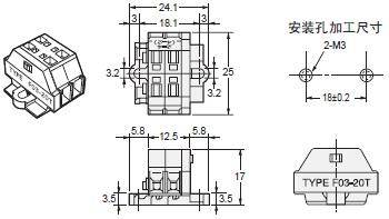 K7L-AT50 / AT50D 外形尺寸 6