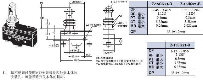 Z 外形尺寸 21 Z-15GQ21-B_Dim