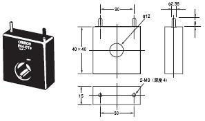 G3ZA 外形尺寸 9 E54-CT3_Dim1