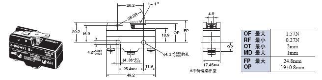 Z 外形尺寸 27 Z-15GW21-B_Dim