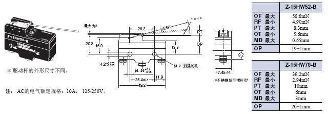 Z 外形尺寸 35 Z-15HW52-B_Dim
