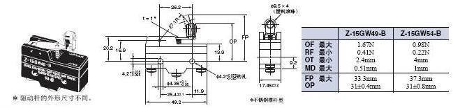 Z 外形尺寸 39 Z-15GW49-B_Dim