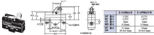 Z 外形尺寸 47 Z-15GM22-B_Dim