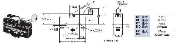 Z 外形尺寸 49 Z-15GM2-B_Dim
