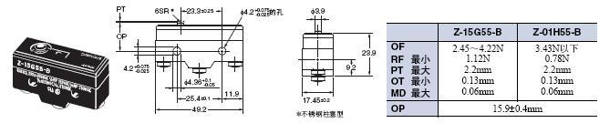 Z 外形尺寸 58 Z-15G55-B_Dim