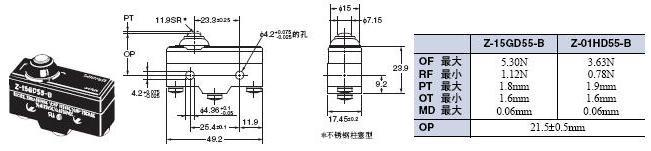 Z 外形尺寸 61 Z-15GD55-B_Dim