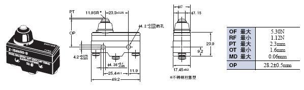 Z 外形尺寸 62 Z-15GK55-B_Dim