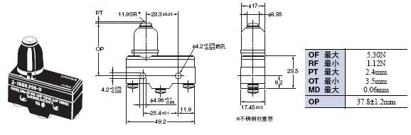 Z 外形尺寸 64 Z-15GK355-B_Dim