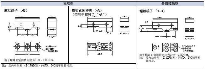 Z 外形尺寸 6 Z_Terminals
