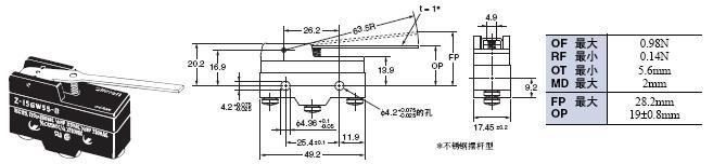 Z 外形尺寸 81 Z-15GW55-B_Dim