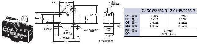 Z 外形尺寸 83 Z-15GW2255-B_Dim<br/>