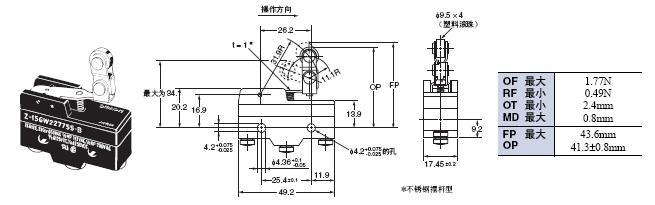 Z 外形尺寸 86 Z-15GW227755-B_Dim