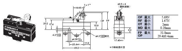 Z 外形尺寸 90 Z-15GM2255-B_Dim