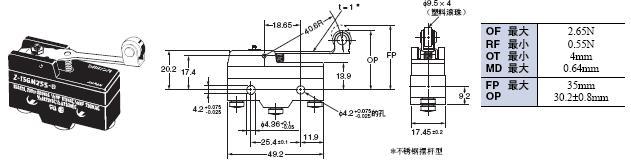 Z 外形尺寸 92 Z-15GM255-B_Dim