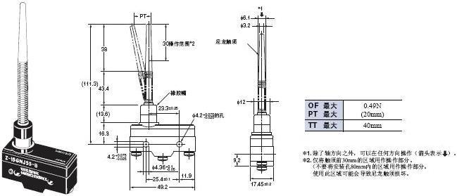 Z 外形尺寸 95 Z-15GNJ55-B_Dim