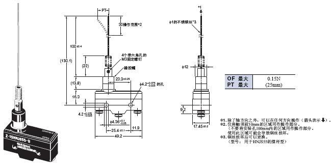 Z 外形尺寸 97 Z-15HNJS55-B_Dim