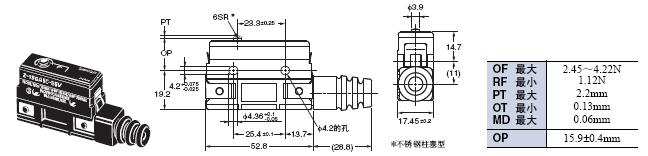 Z 外形尺寸 102 Z-15GA55-B5V_Dim