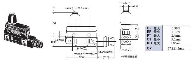 Z 外形尺寸 104 Z-15GK3A55-B5V_Dim