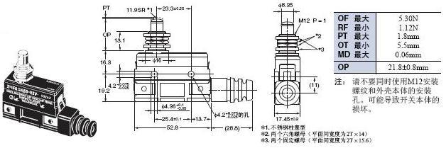 Z 外形尺寸 105 Z-15GQA55-B5V_Dim