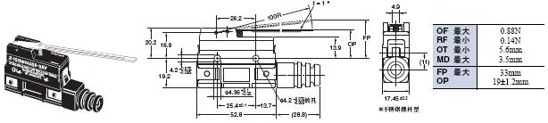 Z 外形尺寸 111 Z-15GW44A55-B5V_Dim