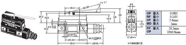 Z 外形尺寸 114 Z-15GWA55-B5V_Dim