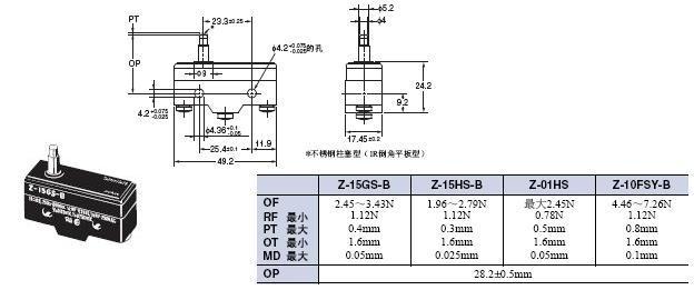 Z 外形尺寸 12 Z-15GS-B_Dim