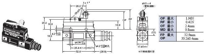 Z 外形尺寸 115 Z-15GW22A55-B5V_Dim
