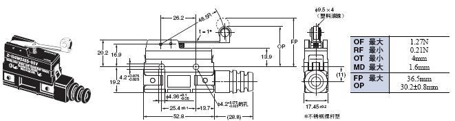 Z 外形尺寸 117 Z-15GW2A55-B5V_Dim