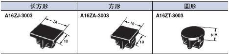 A16 外形尺寸 22 A16_Panel Plugs