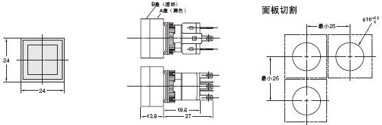 A16 外形尺寸 34 A16ZA-5060_Dim