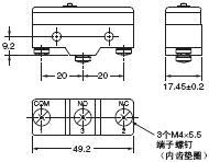 A 外形尺寸 5 A_Screw Terminals