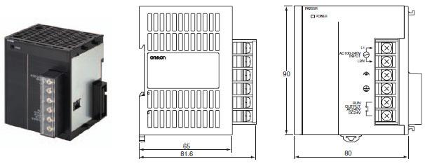 CJ1W-PA / PD 外形尺寸 2 CJ1W-PA205R_Dim
