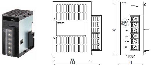 CJ1W-PA / PD 外形尺寸 6 CJ1W-PA202_Dim