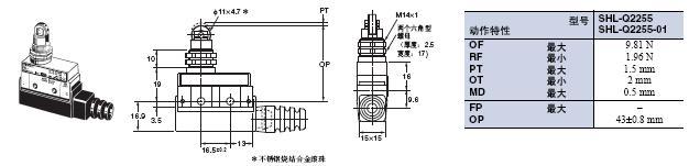 SHL 外形尺寸 8 SHL-Q2255_Dim
