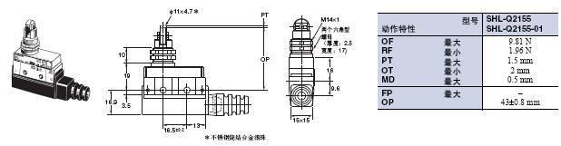SHL 外形尺寸 10 SHL-Q2155_Dim