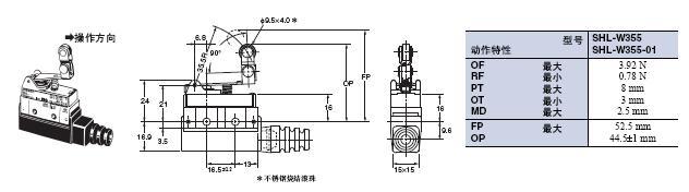 SHL 外形尺寸 20 SHL-W355_Dim