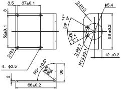 V400-R1 外形尺寸 6 Mounting Bracket_Dim
