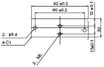 V400-R1 外形尺寸 7 Mounting Base_Dim